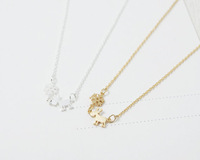 Wholesale Animal Necklace Tiny Vintage Gold Silver Rudolf Charm Necklace Pendant Necklaces Metalwork Accossies For Women