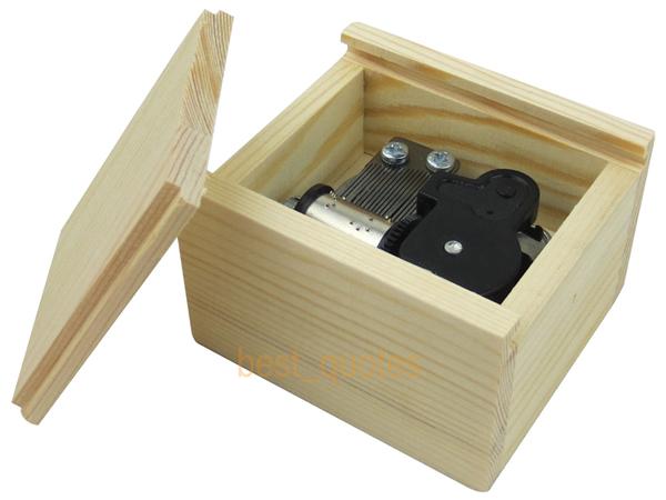 Musical Wooden Box Wind Up Music Box Swan Lake Free Shipping(China (Mainland))