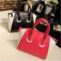 HOT Fashion bags 2014 women's nubuck leather patchwork handbag smiley bag shoulder bag women's leather messenger bags z3213