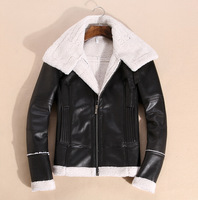 Hot South Korea trend suede leather clothes lamb fur jacket,Winter jacket, Fur  a short stand-up collar leather jacket