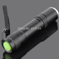 Free Shipping!1pc 2000 Lumen CREE XML-T6 LED T6 Flashlight 5 Modes Zoomable Focus Black Aluminum Alloy[918-T6]