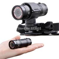 Mini Sport DV F9 outdoor waterproof Helmet Camera Motion DV flashlight recorder bicycle