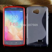 Anti-skid S wave TPU gel Case Cover Skin For LG F60 S Line Soft skin Cover