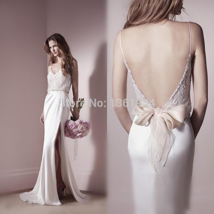 Blush Low Back Wedding Dress : Aliexpress buy blush pink wedding dresses sexy