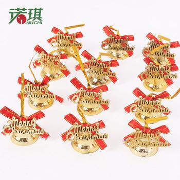 Золото 3 см с бантом письмо часы рождественская елка украшение новогоднее 12 карты 40 г