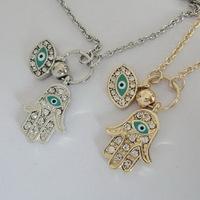 Fashion Jewelry Vintage Necklace Charm Hamsa Hand Beautiful Classic