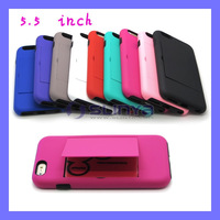 Silicone Stand Cover Case for iPhone 6 Plus 5.5 inch with Credit Card Holders