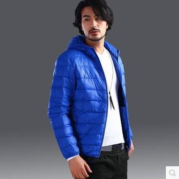 90% белая утка вниз 2014 новое поступление тонкий и мужские спортивная пальто хлопка-ватник ...