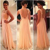 2014 Lace Dress Sleeveless Backless Floor-Length Sexy Maxi Dress Patchwork Chiffon Beach Long Dress Vestido De Renda D439A4W