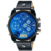 CAGARNY 6822 Men's Fashionable Dual Movement Sport Watch with Calendar Display -5