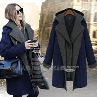 British Style Slim Cashmere Down Coat Winter Warm Women Woolen Outwear Long Ladies High Quality Designer Casual Brand Jacket