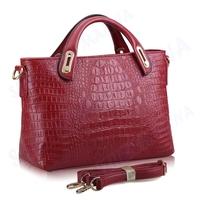 1PC FREE SHIPPING New fashion Crocodile Grain European and American style women messenger bags shoulder bag handbag #MHB008