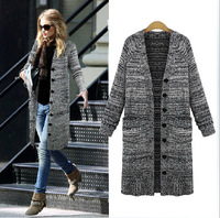 2014 autumn new European retro self-cultivation leisure knit women's Cardigan