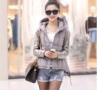 2014 new arrival hooded slim short winter jacket women down jacket coat object photography 3 colors M L XL