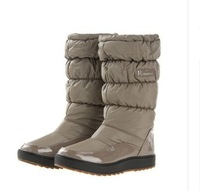 2014 free shipping Baijia brief knee-high japanned leather waterproof snow boot women's slip-resistant shoes boots