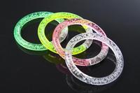 Free Shipping christmas celebration Bangle bracelets wholesale luminous concert dance flash electronic LED acrylic bracelet toys