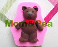 Mom&Pea 0167 Free Shipping Bear Shaped Silicone Mold Cake Decoration Fondant Cake 3D Mold Food Grade Silicone Mould