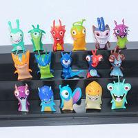 Free Shipping 16pcs/set 4cm Cartoon Slugterra 2 Action Figures Toys For Christmas Gift Wholesale