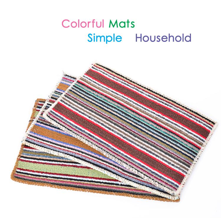 Dutch Design Badkamer ~ mode matten kleurrijke streep vloermat badkamer tapijt tapijt deur