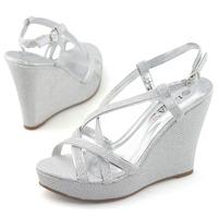SHOEZY brand bow knot sandals women silver metallic high heels ladies party wedding shoes t bar rhinestone crystal dress sandal