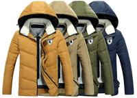 2014 Brand New Fashion Down & Parkas Outdoor Hood Warm Windproof Winter Jacket Men Casual Men's Jacket  M~XXXL