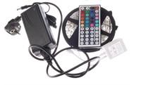 SMD 5050 RGB LED Strip 5M 300Leds No-Waterproof 44 Keys IR Remote Controller 12V 7A Power Adapter Flexible Light Lamp Blue White