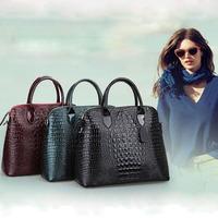100% genuine leather handbag new fashion female crocodile women leather bag shoulder bag women messenger bag crossbody bag totes