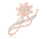 Free shipping New 2014 Elegant rhinestone hijab pins rhinestone flower brooches BR015
