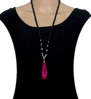 2014 Han edition new style crystal pendant sweater necklace