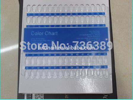 New fashion 60 holes nail art color chart(China (Mainland))