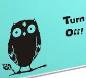 Owl Tree Refrigerator/Fridge/Art Wall Stickers / Wall Decals /House decor Child decoration Switch Glass Sticker free shipping(China (Mainland))