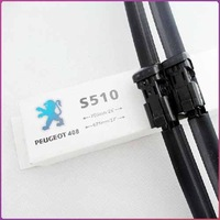 Free shipping car wiper blade For Peugeot 308 408 508 Soft Rubber WindShield Wiper Blade 2pcs / PAIR