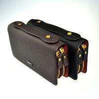 brand handbag genuine leather purse men the fashion clutch men's wallets black coffee colour carteira