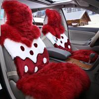 Car seat cushion winter wool cushion wool seat cushion car mats set auto supplies xy001, wool car seat cover