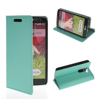 New 2014 Fashion Ultra Thin Leather Wallet Slim Fit Flip Case Cover Pink With Screen Protector For LG G2 MINI phone cases