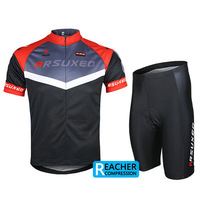 2014 arsuxeo mens cycling bike bicycle short sleeves jersey shirts  wear suits uniforms  top .3D BIB PADDED c04