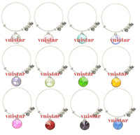 Vnistar hot sell12pcs/lot in12 different colors birthstone charm alex and ani bracelet for women VAB040-mix