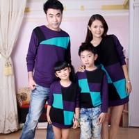 Fashion family pack family fashion autumn family set 2012 long-sleeve 100% cotton t-shirt