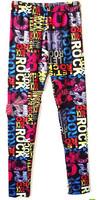 2014 Jogar a calcinha Women Sexy Color Word Printing Leggings Fashion spandex Pants Polainas Free Shipping