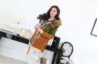 2014 new arrival fur collar plus size thick warm winter coat women down coat parka female 4 colors L-XXL