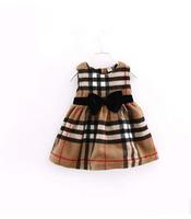 New arrival 20141029  winter&autumn  high-quality children's dresses for girls dress princess Classic Plaid  5pcs/lot  1-5y