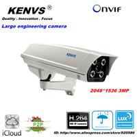 3MP KENVS CCTV IP CAMERA ONVIF 2.0 Waterproof Outdoor 2048*1536  Large engineering camera video camera IR CUT Night Vision P2P