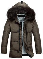 (90% White duck down) men's winter coat warm Fur Collar Down Coat Down Jacket Thicker design
