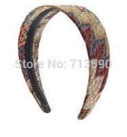 New winter classic hair hoop wrap cloth some ancient totem wave hair hoop hairpin Korean hair accessories