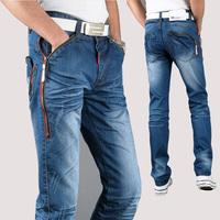 2014 fashion designer brand men jeans denim pants trousers,Autumn and Spring pants blue Slim skinny pants