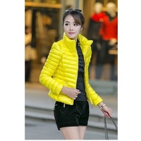 Free shipping wholesale price of a short section of large size women's fashion down jacket