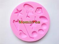 Mom&Pea 0170 Free Shipping Golf Shaped Silicone Mold Cake Decoration Fondant Cake 3D Mold Food Grade Silicone Mould