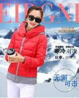 2014 new arrival women casual down jacket slim short winter jacket female L XL XXL
