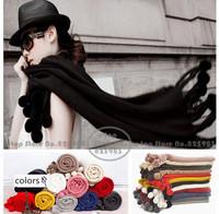 Classic Brand Women Scarf Winter Scarfs Imitate Wool Pashiminas Tassel Scarves Wraps Shawl Hijabs Cachecol Free Shipping A3595
