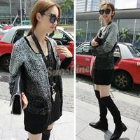 fashion women kimono cardigan blouse/mujer ropa camisas femininas blusas long warm sweater with neck women B19 CB031975